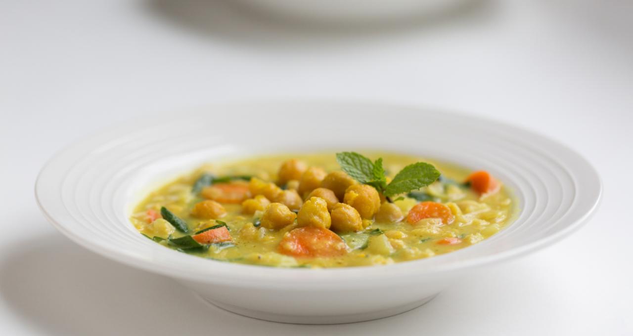 Rezept: Kichererbsen-Gemüse-Eintopf mit Kurkuma